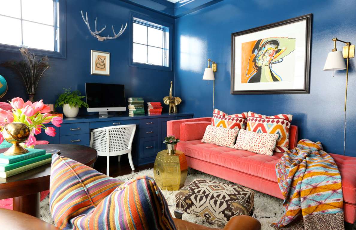 Orange And Blue Aesthetic Bedroom