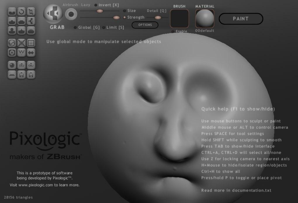 Render of a clay face
