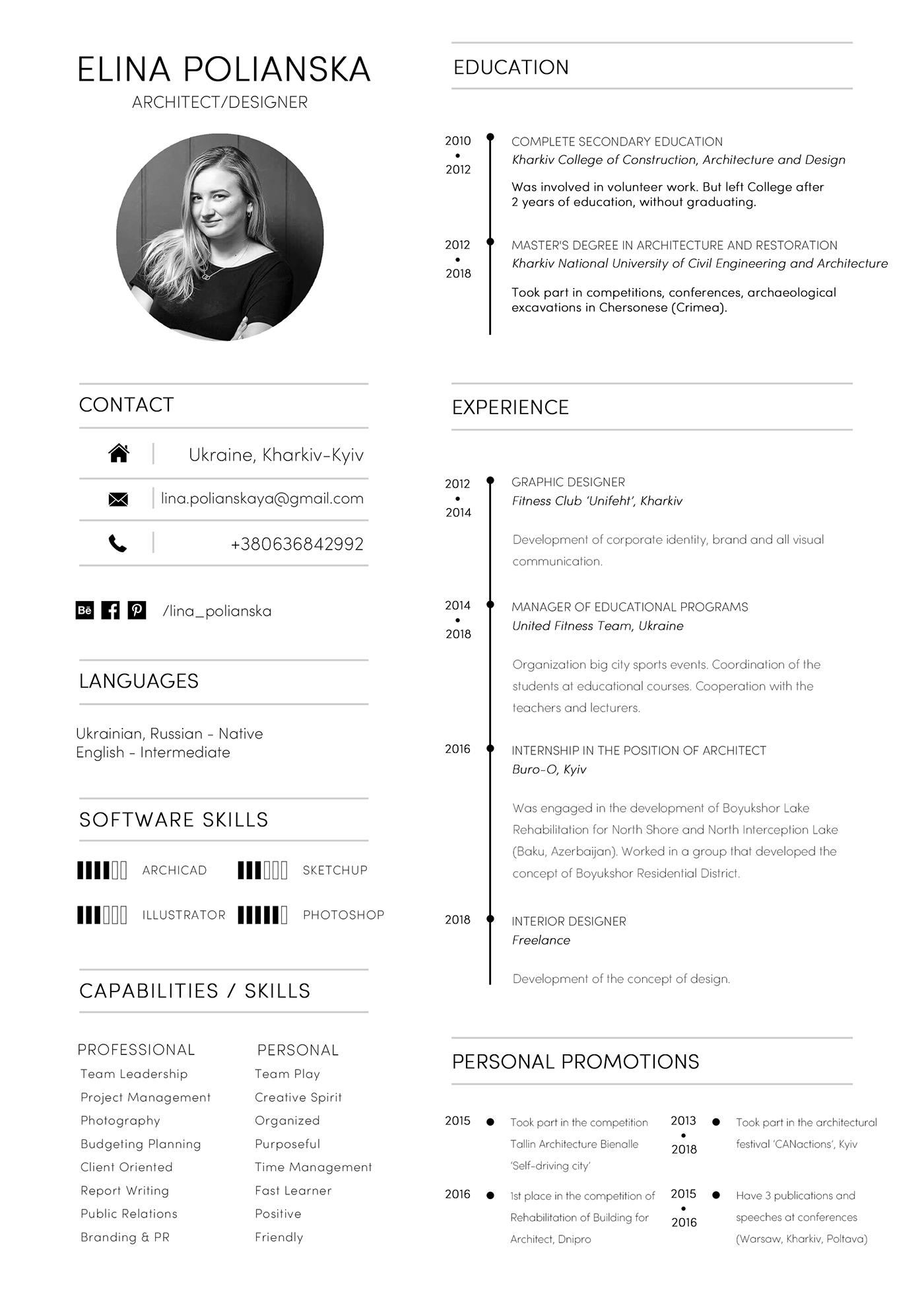 architecture resume sample 1