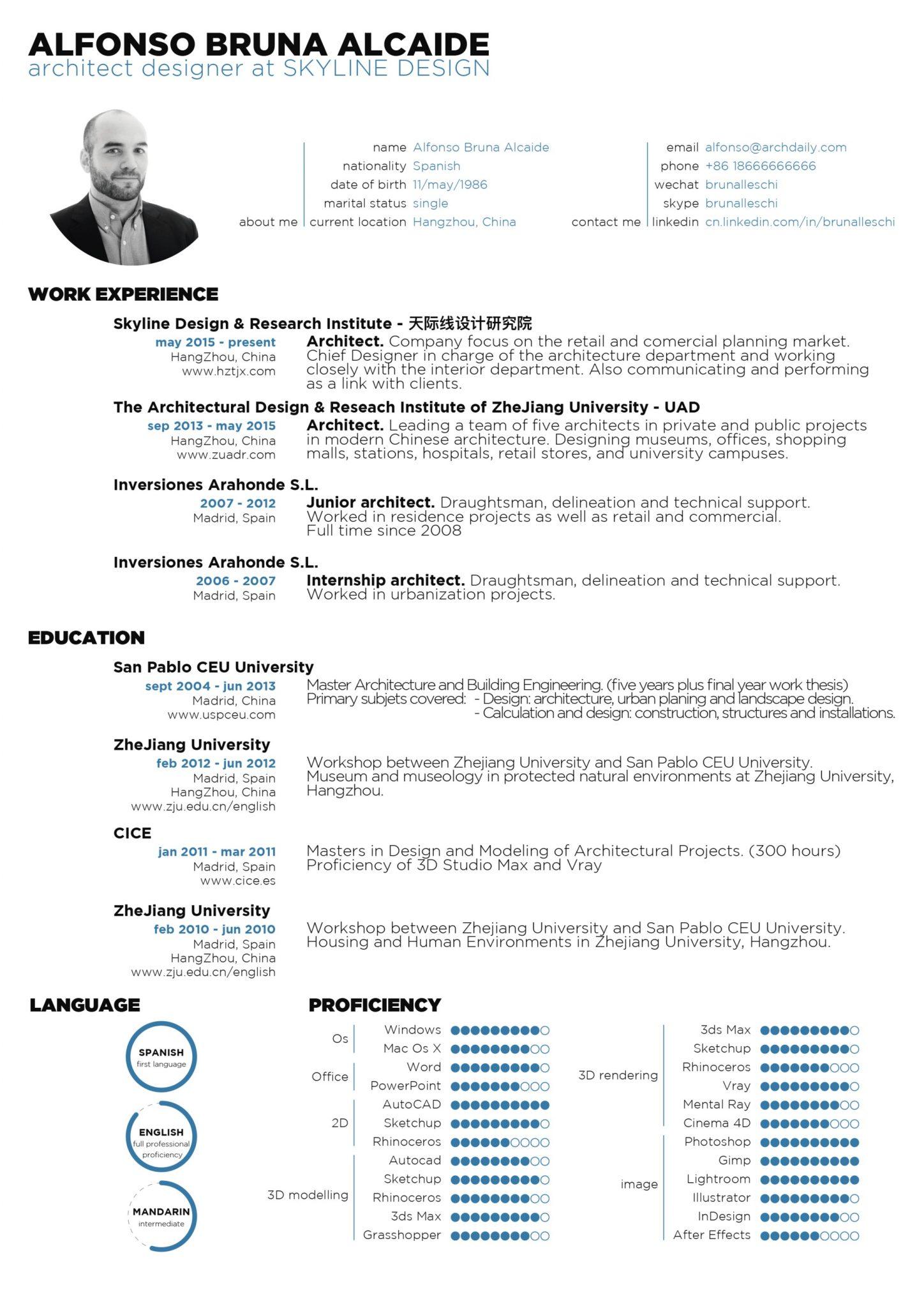 architecture resume sample 3