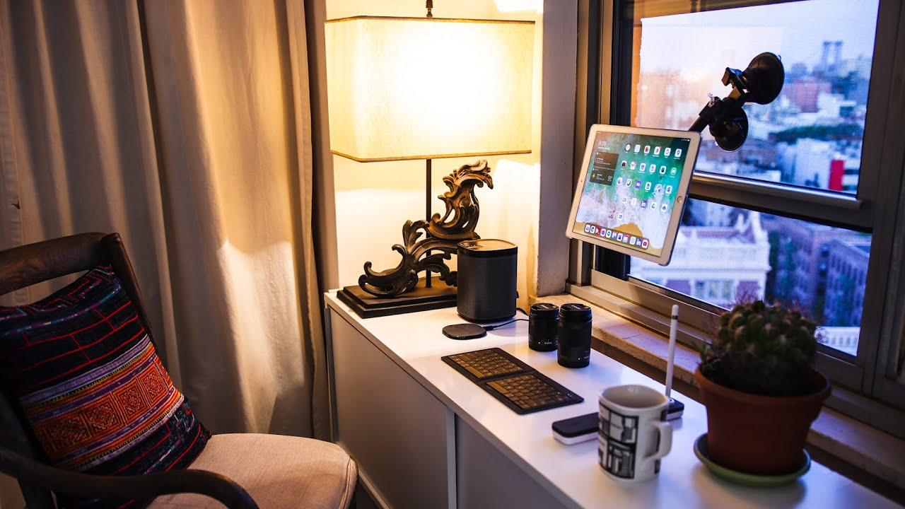 convertible workspace for studio apartment