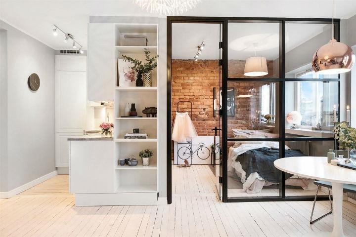 Scandinavian design for studio apartment