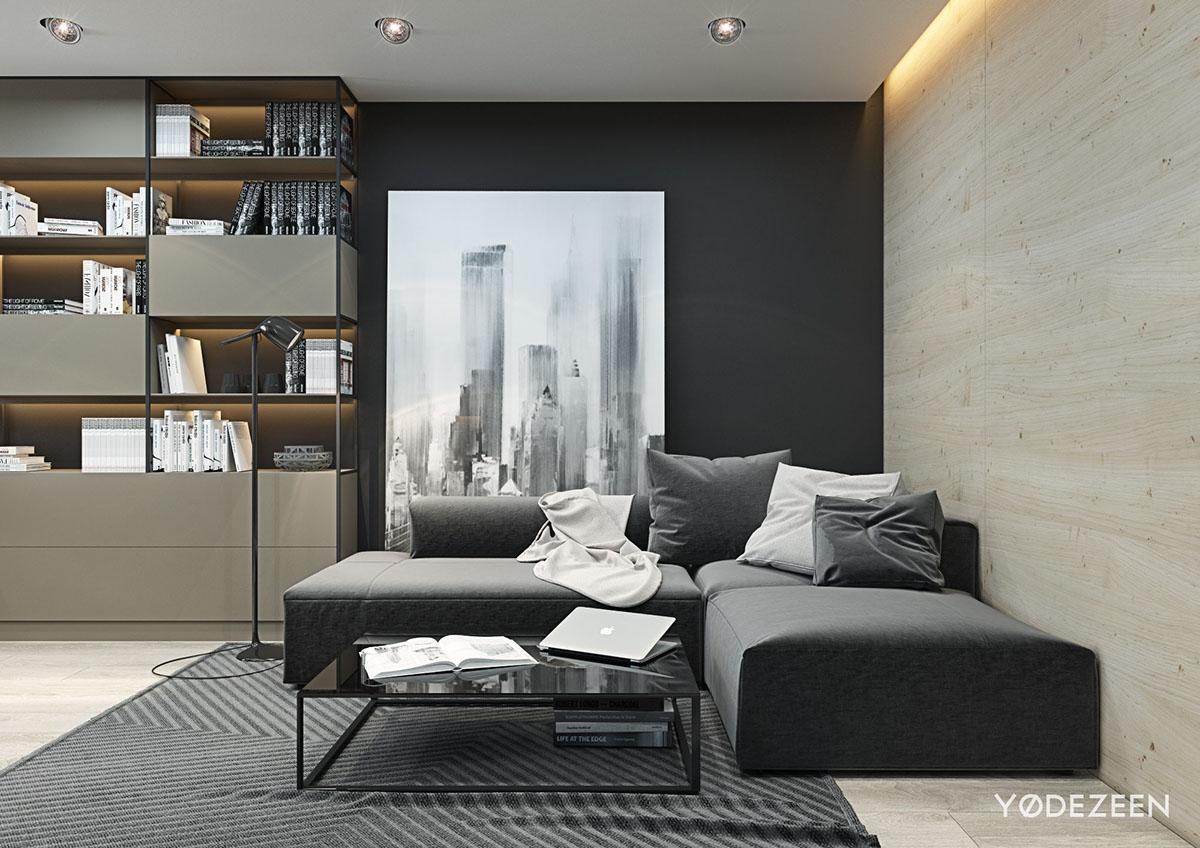 small-black-and-white-studio-apartment