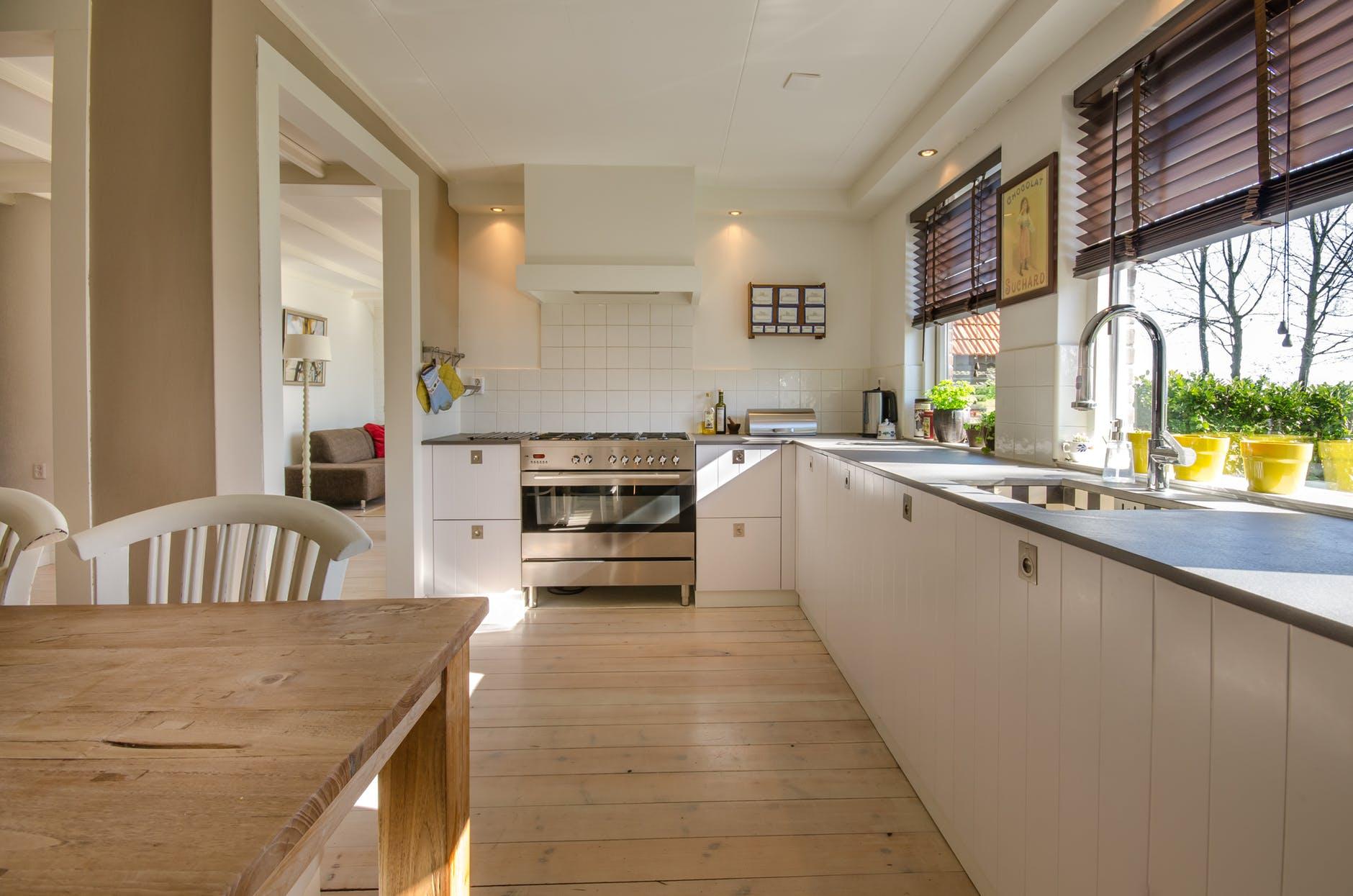 wodden floor kitchen design