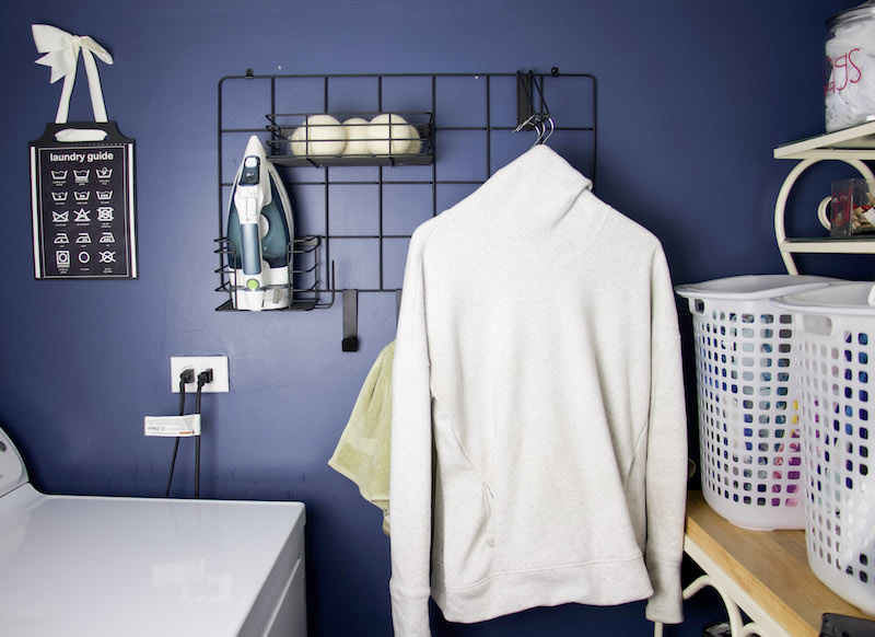 Utilize the laundry space walls