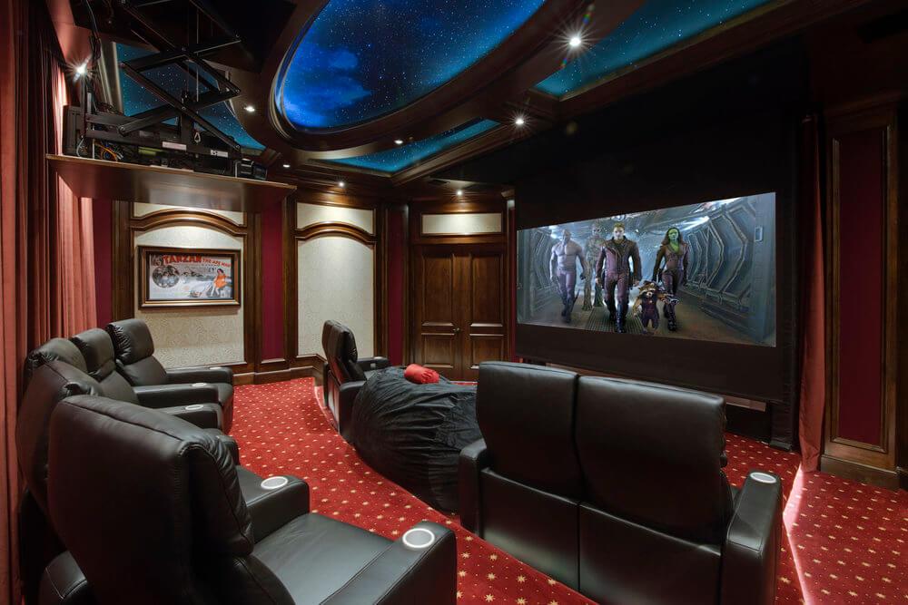 Luxurious home theatre ideas