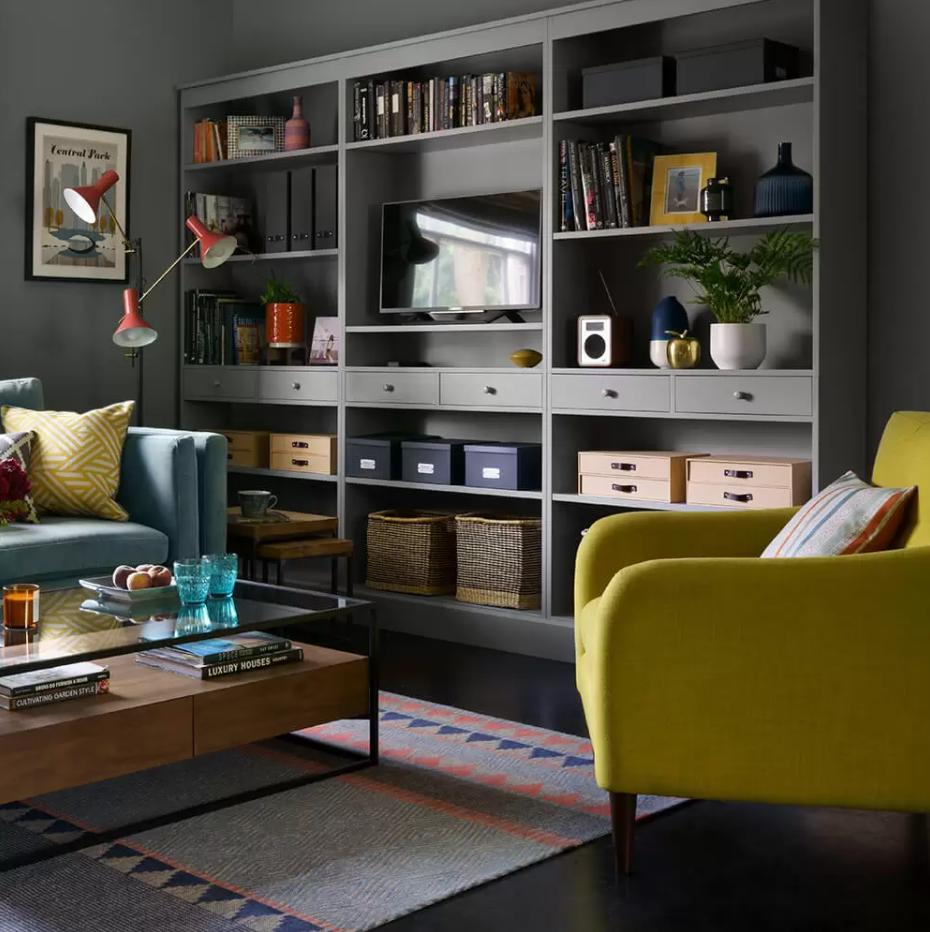 small living room storage design