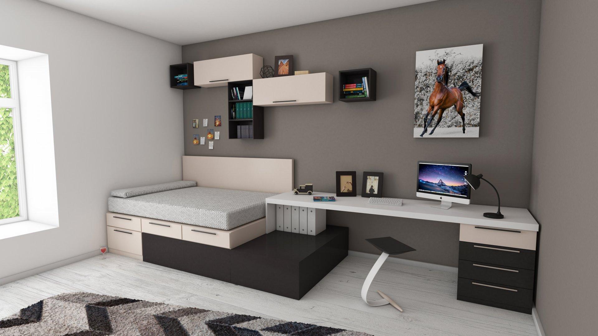 studio apartment bedroom layout