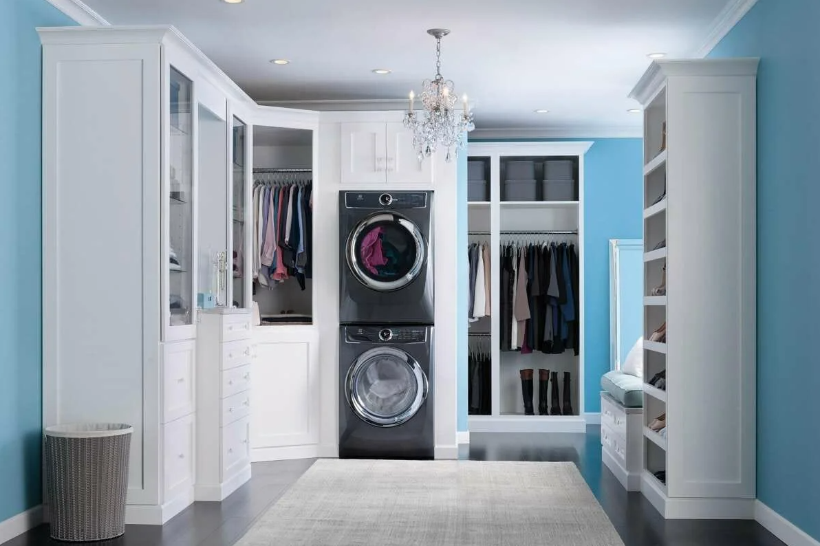 sufficient space for laundry room
