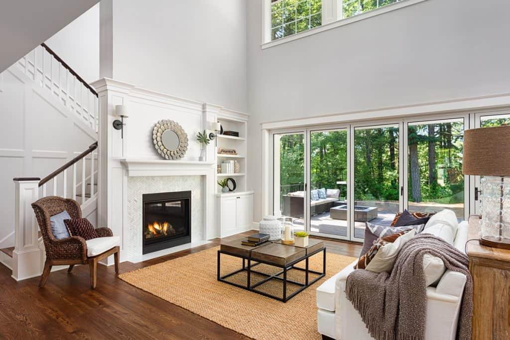 swinging doors - living room interior design ideas