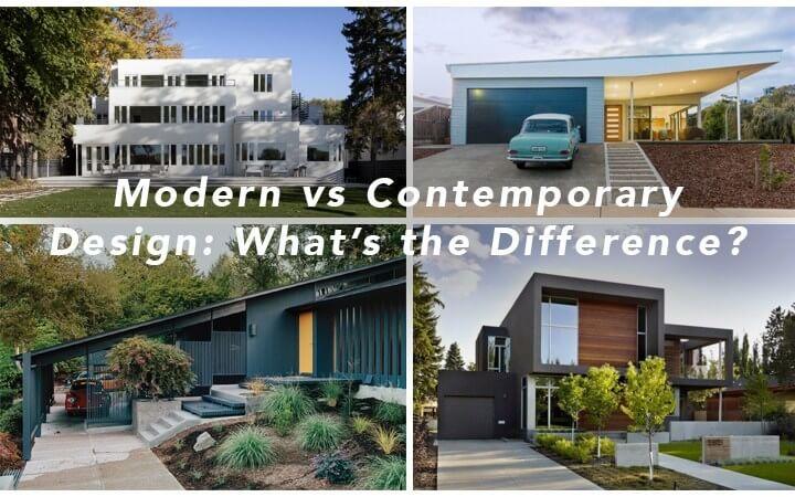 Modern Home Designs Vs Contemporary House