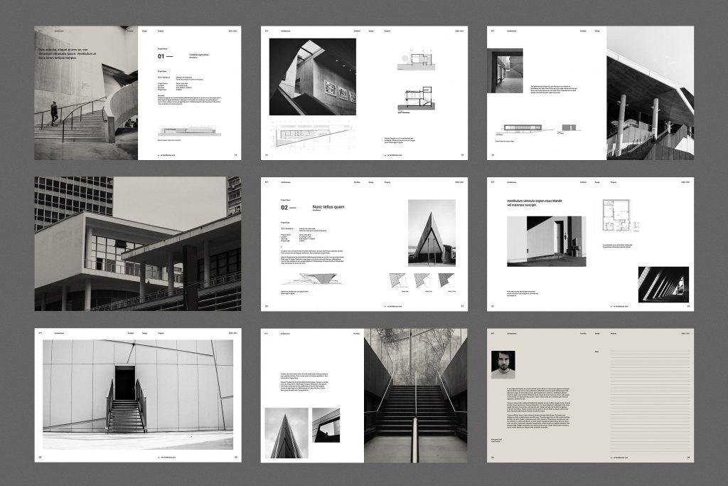architecture portfolio design 1