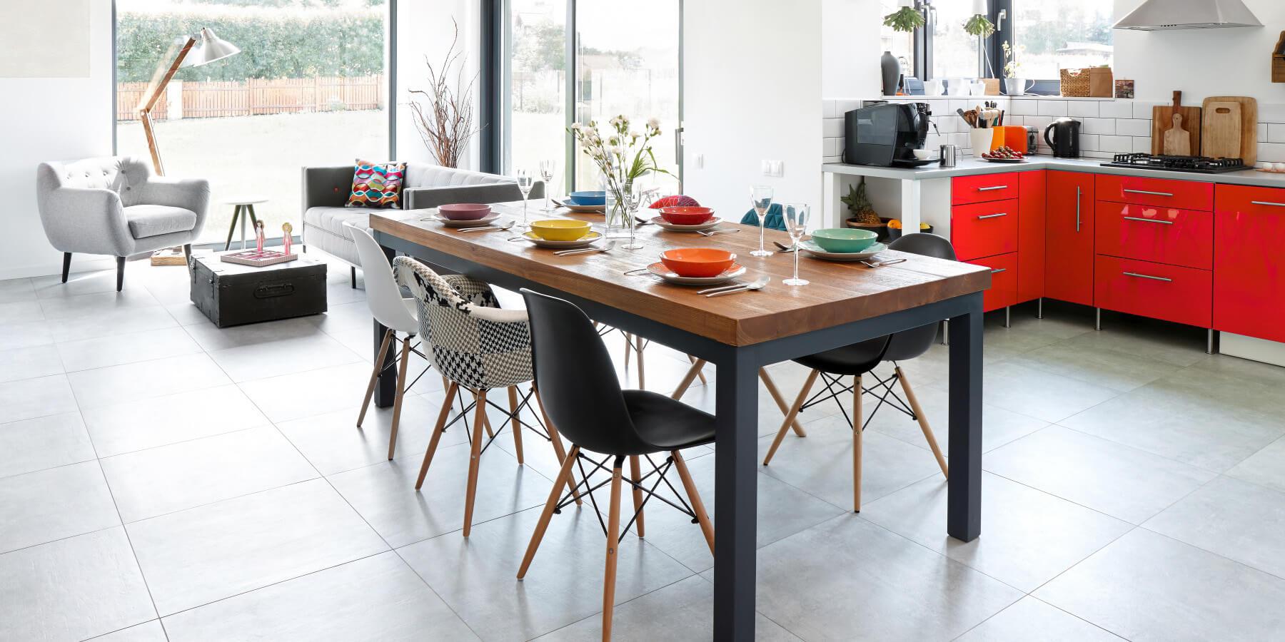 floor plan for dining room