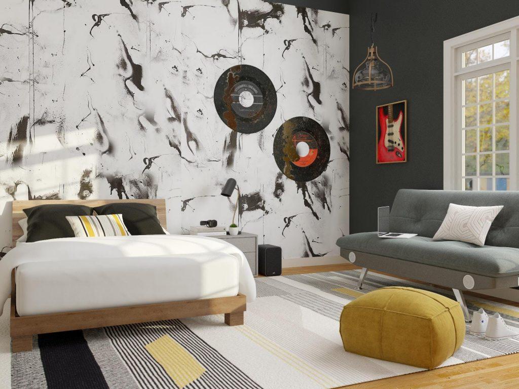 teen bedroom wallpaper