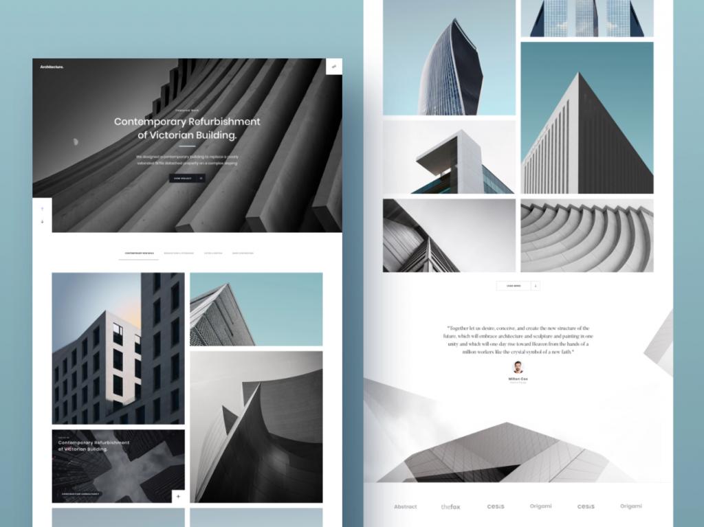 use graphic design for architecture portfolio