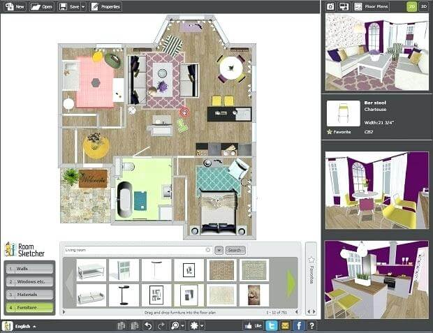 Best free interior designing software create beautiful - Design your room online ...