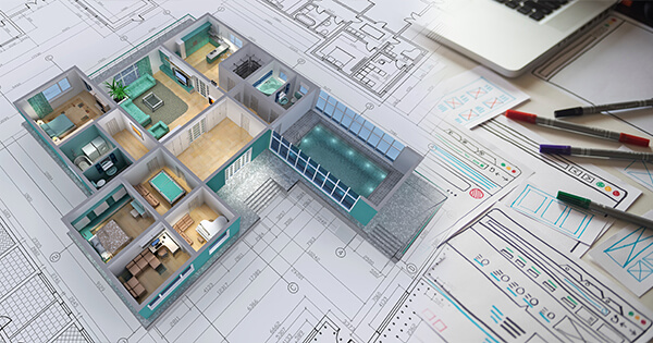 3d image of a floor plan
