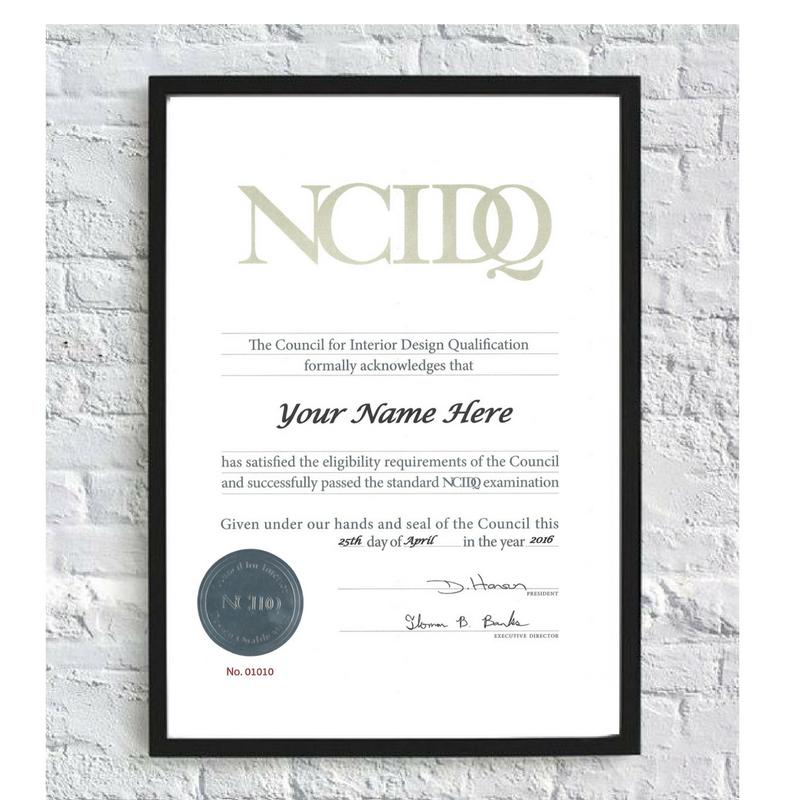 NCIDQ interior design certification