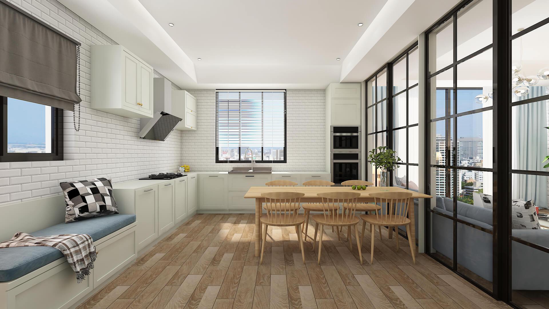 contemporary interior design wood tones