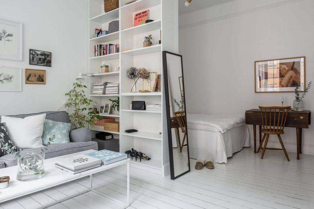 small apartment shelves