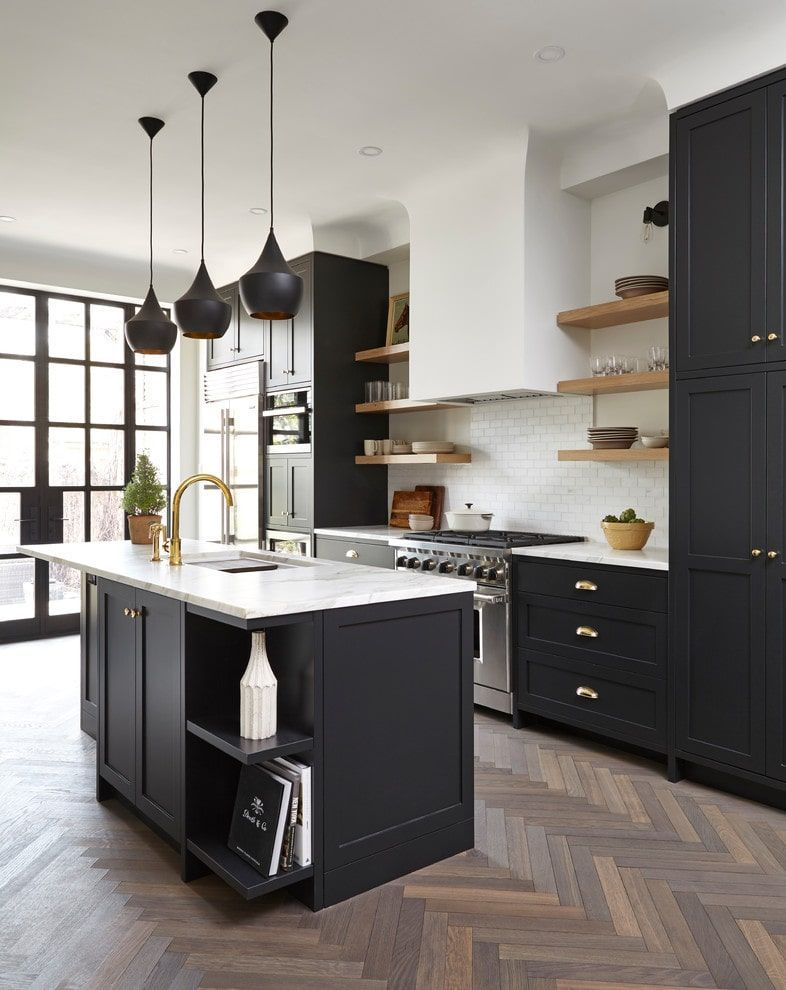use bold cabinet for kitchen design