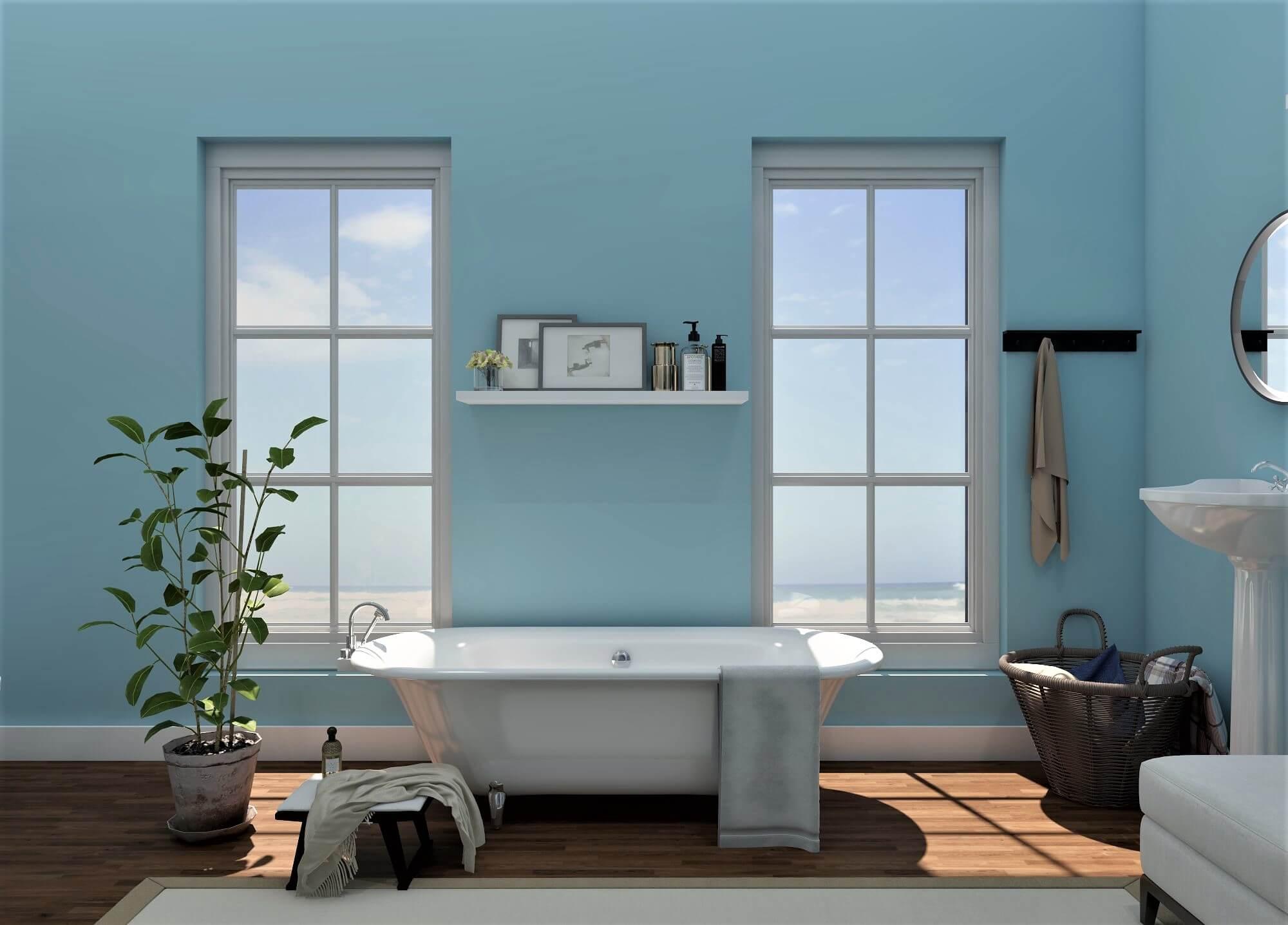Color-Balanced Bathroom