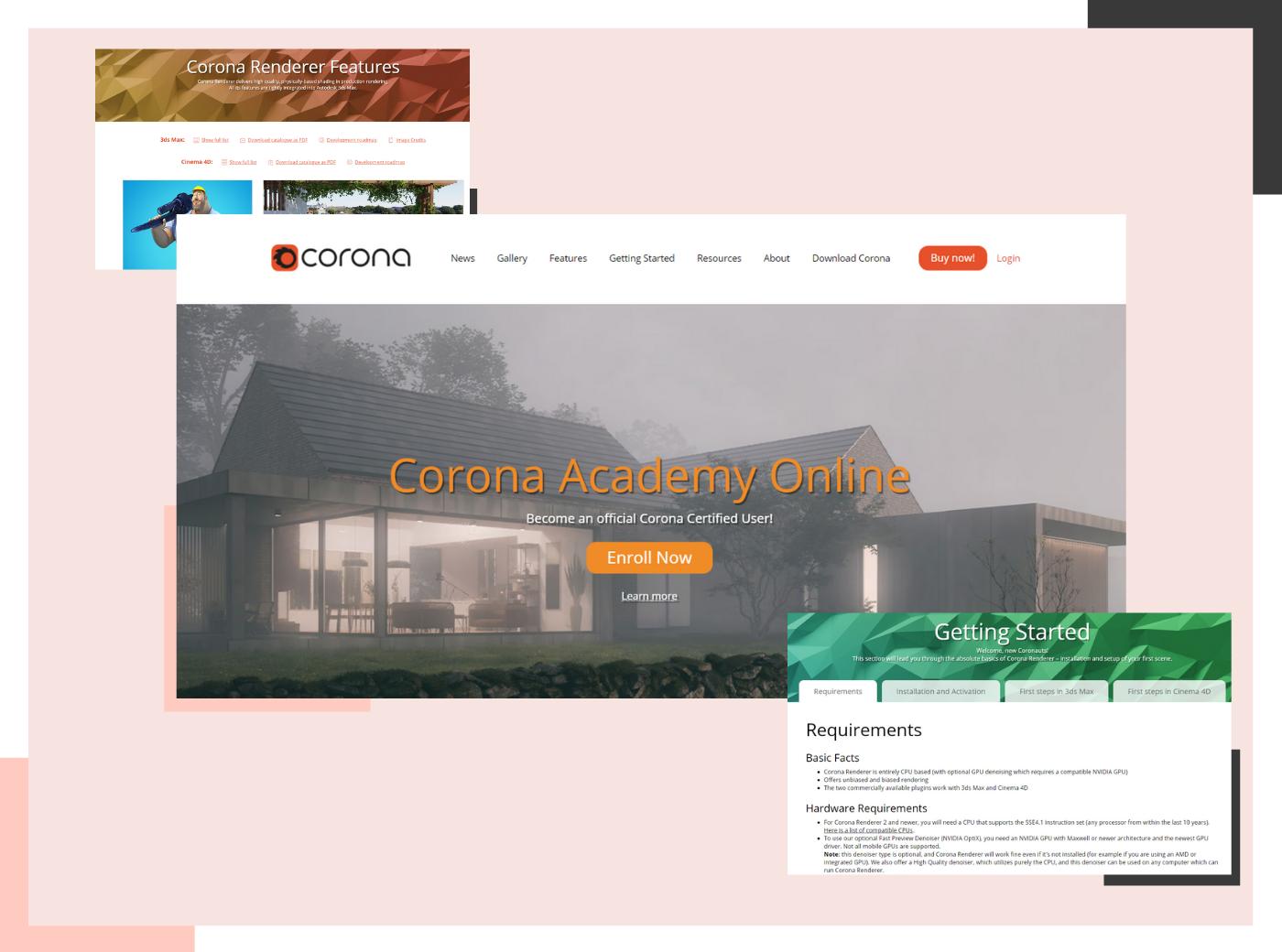 Corona rendering software