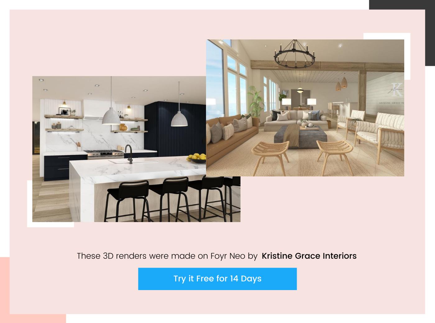 home design by Kristine Grace Interiors