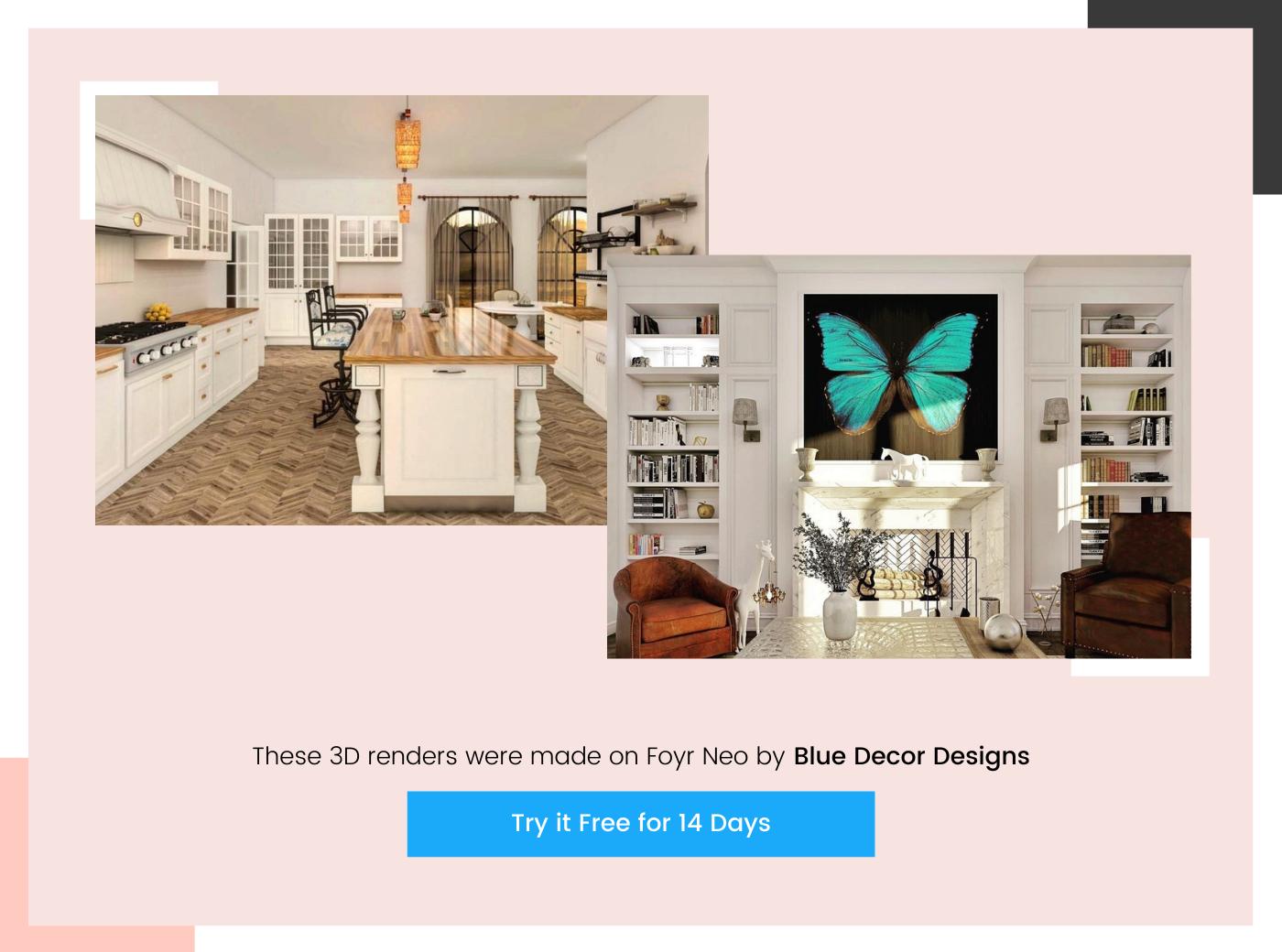 home design render by Blue Decor Designs