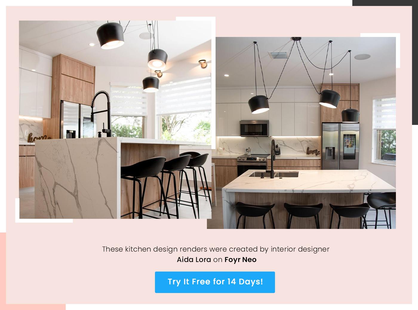 kitchen design render by aida lora