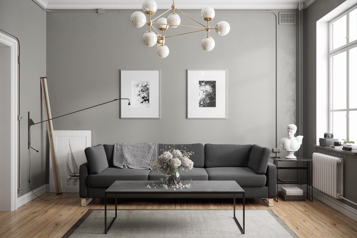 Gray Color in interior design