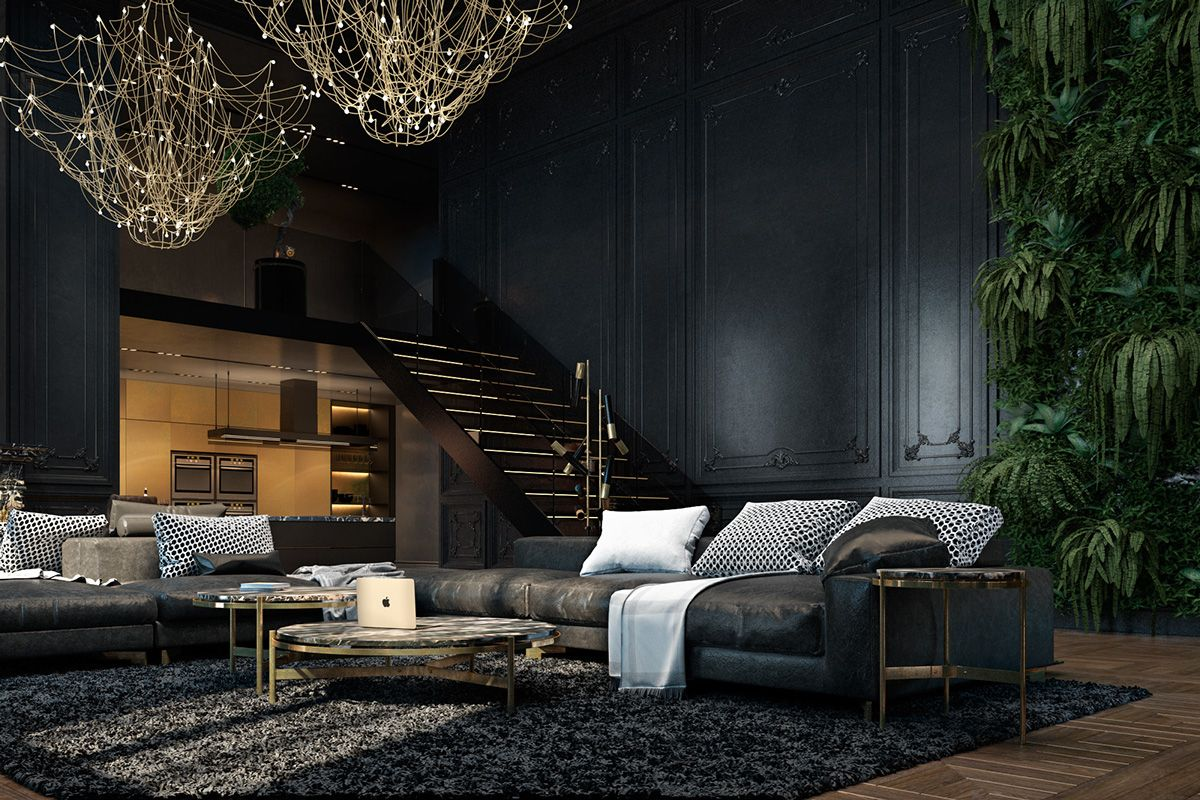 black color in interior design