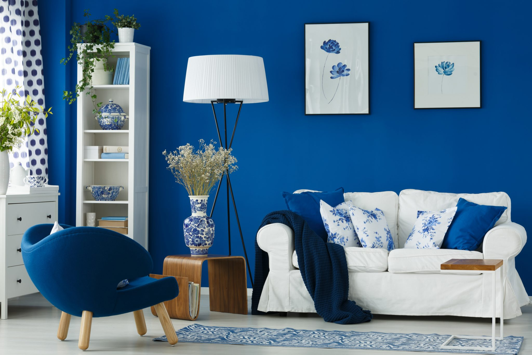blue color in interior design