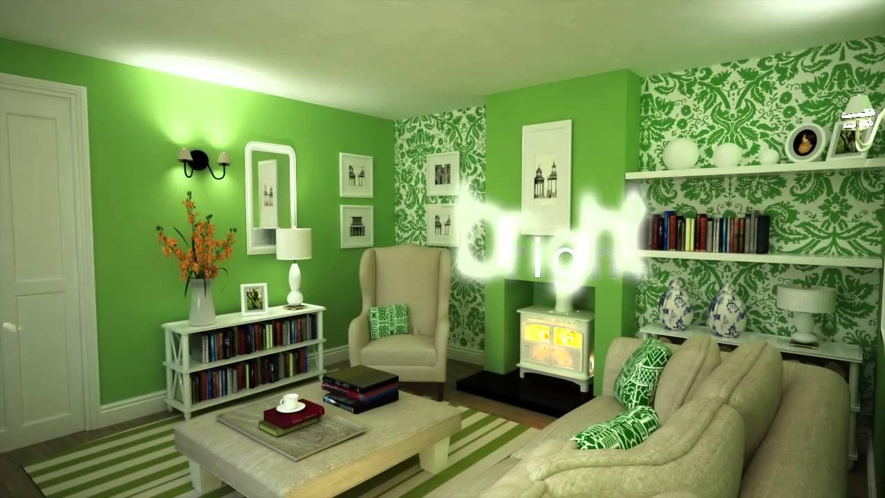 green color in interior design