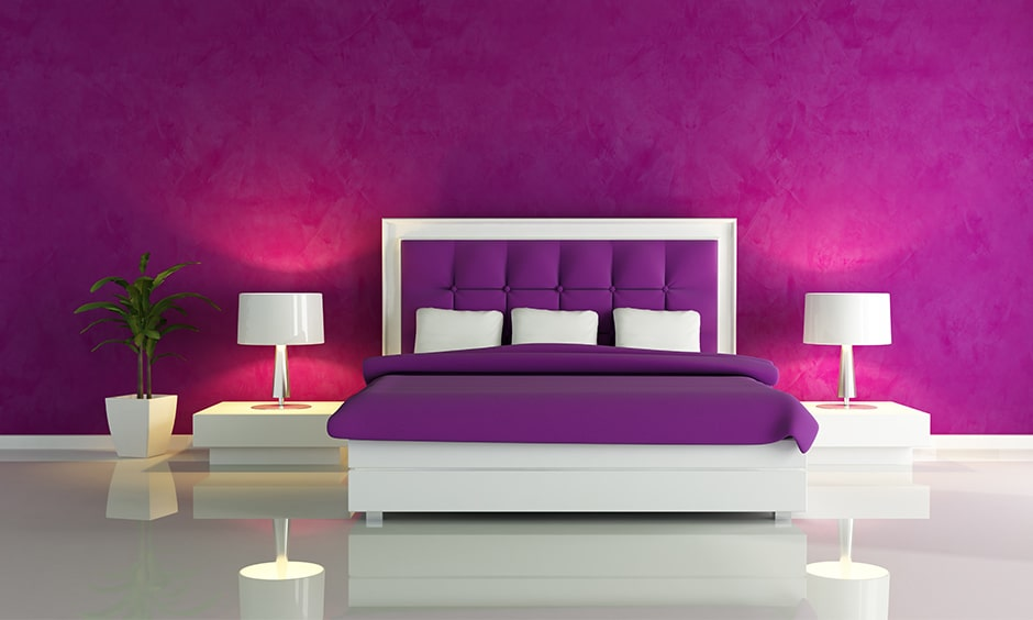 purple color in interior design