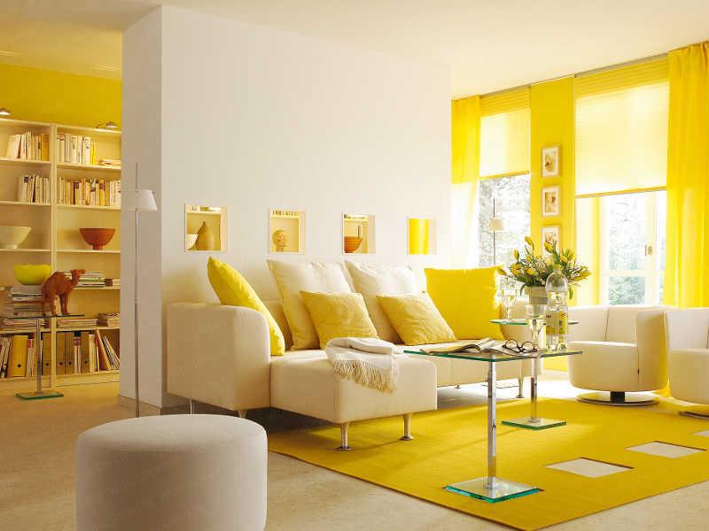 yellow color in interior design