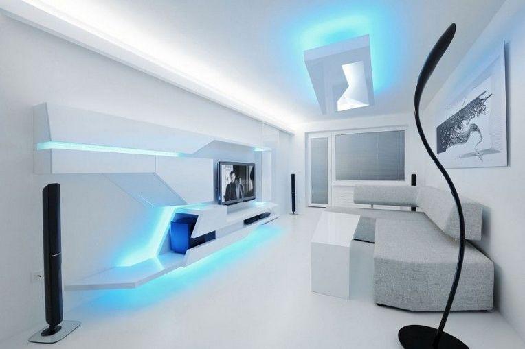 futuristic interior design concept