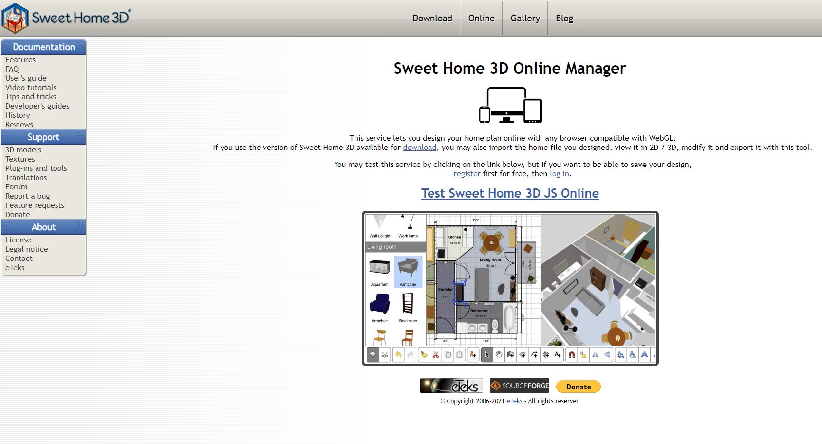 sweet home 3d room design app