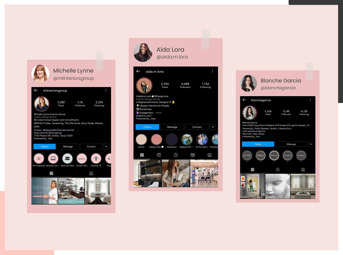 E-design Social Handles