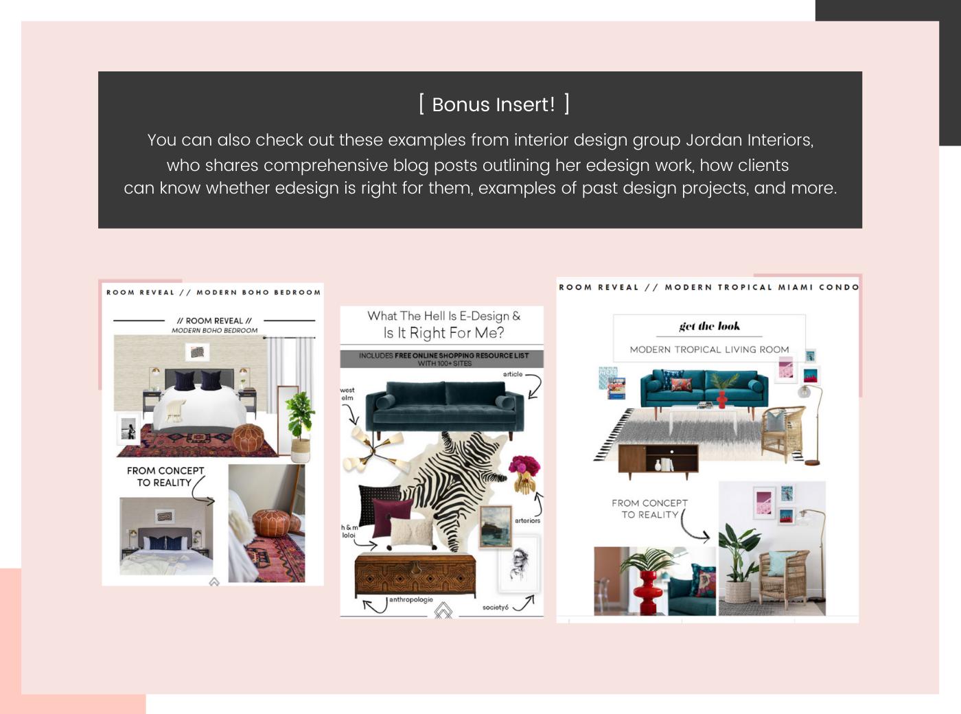 online interior design example