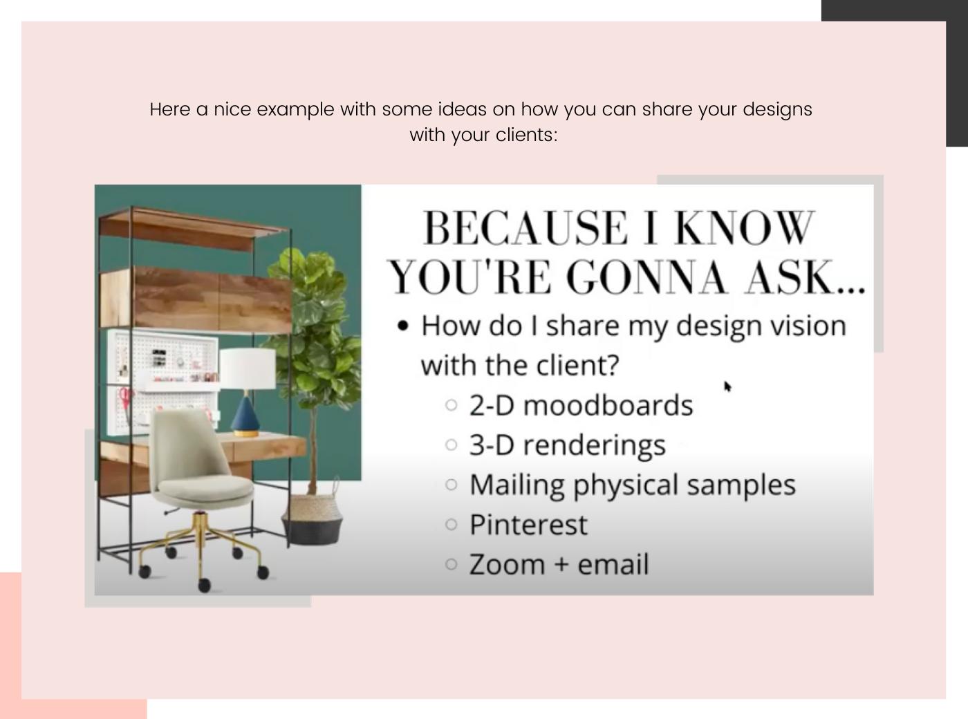 E-design process Example