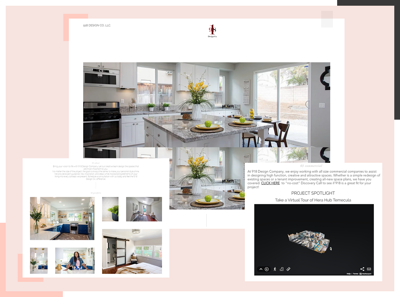 E-designing on website