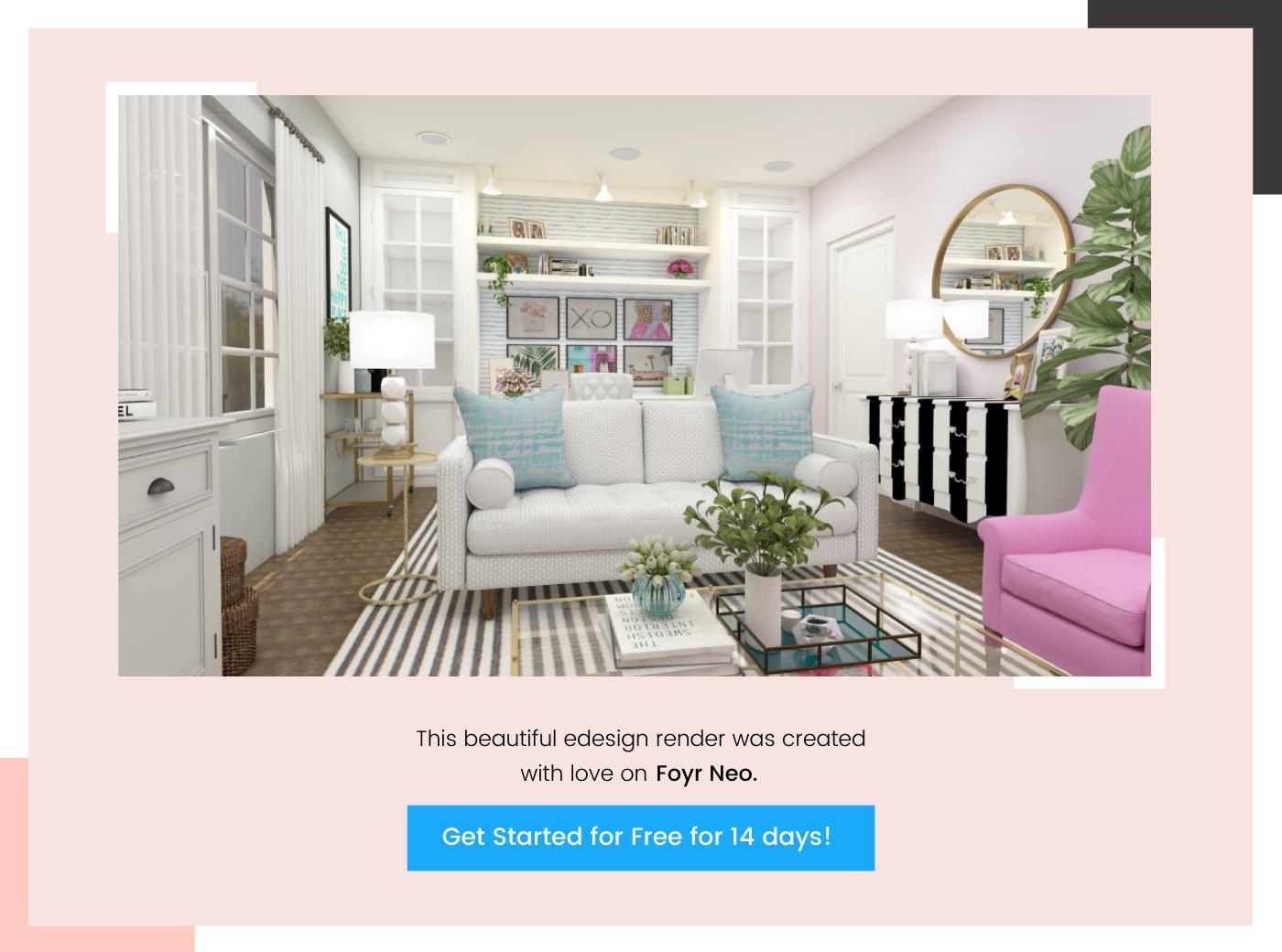 create e-design render on Foyr Neo 6