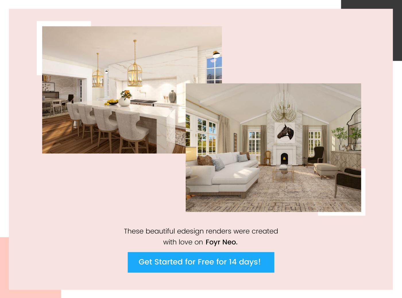 create e-design renders on Foyr Neo 5