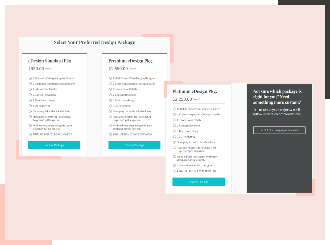 e-design packages example 1