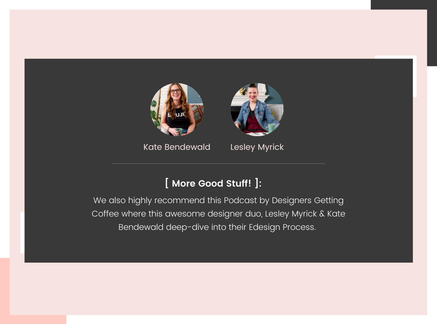 podcast of e-design process