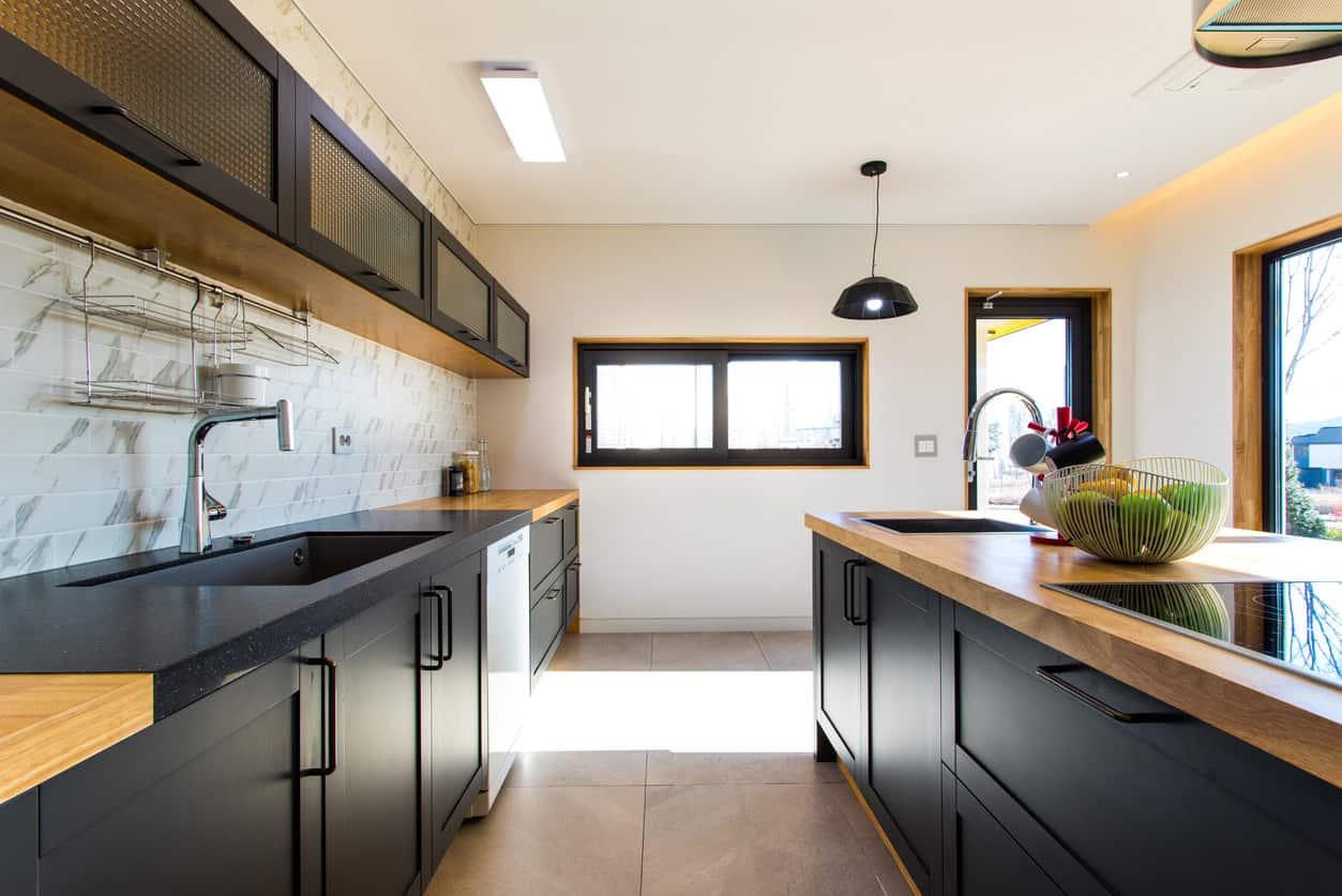 small kitchen design corridor layout