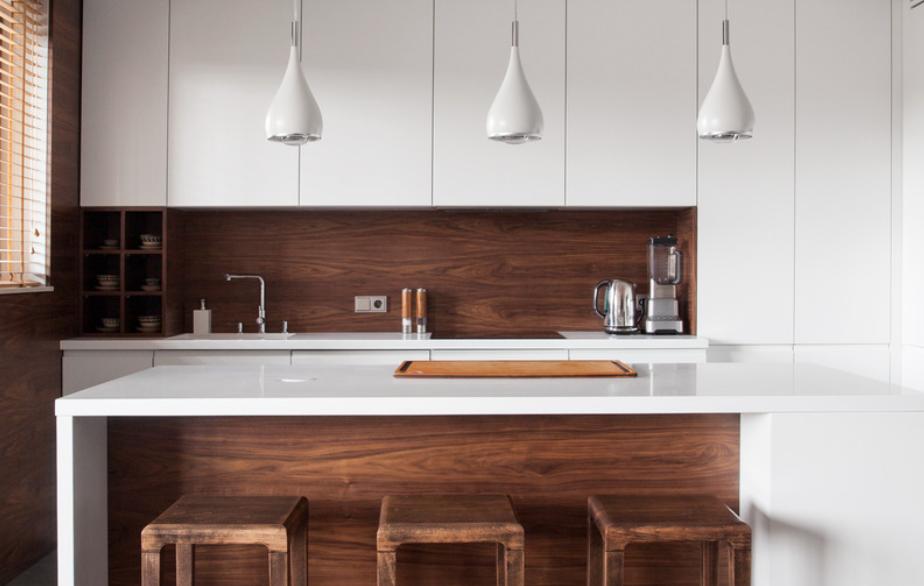 wooden kitchen island