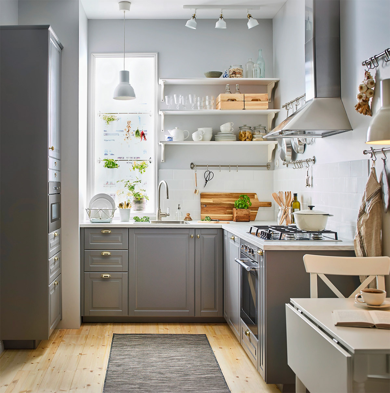 L shaped standard kitchen design