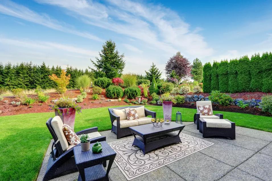 Living Room Outdoors - patio design ideas
